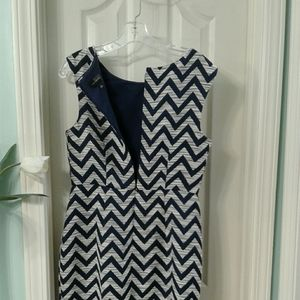 The Limited  bold blue/White Graphic  Print  Dress